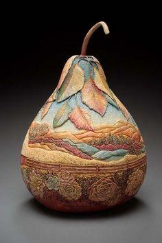 """Gourd ~ Marilyn Sunderland  ~ Miks' Pics """"Artsy Fartsy ll"""" board @ http://www.pinterest.com/msmgish/artsy-fartsy-ll/"""