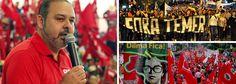 """Presidente nacional da CUT anuncia para agosto, provável mês da votação do impeachment, a """"retomada"""" das manifestações de rua…"""