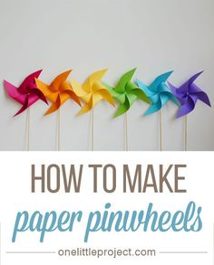 Inspired by the gentle breezes that blow through the new grass blades and budding flowers that this season brings, I decided to celebrate the season by making my own spin off (pun intended!) of the classic paper pinwheel.