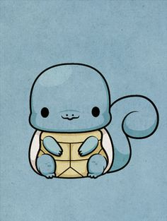 Pokemon - Squirtle by ~beyx on deviantart