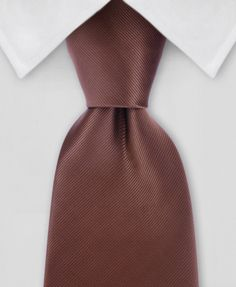 Solid Tie - Brown Tie