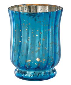 Take a look at this Blue Whimsy Glass Candle Holder by Home for the Holidays: Entertaining on #zulily today!