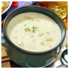"Best Clam Chowder -  ""A delicious, traditional, cream based chowder, this recipe calls for the standard chowder ingredients: onion, celery, potatoes, diced carrots, clams, and cream. A little red wine vinegar is added before serving for extra flavor."""