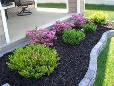 Front Yard Garden Design cheap landscaping ideas for front - Small Front Yard Landscaping, Landscaping With Rocks, Outdoor Landscaping, Landscaping Plants, Front Landscaping Ideas, Courtyard Landscaping, Back Yard Ideas For Small Yards, Front Yard Planters, Front Porch Landscape