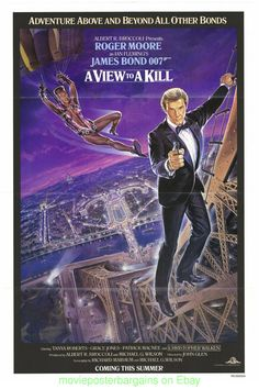 a view to a kill #movie poster 27x41 original james #bond international version. from $80.0