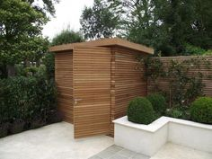 She'd for the side yard contemporary sheds, modern shed, contemporary garde Pool Shed, Backyard Sheds, Outdoor Sheds, Outdoor Rooms, Outdoor Living, Contemporary Sheds, Modern Shed, Contemporary Gardens, Modern Gardens
