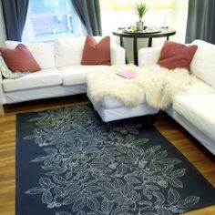 Make your own rug from a drop cloth.