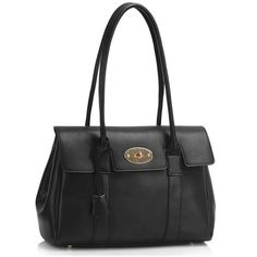 Willa Satchel Handbag (£35) ❤ liked on Polyvore featuring bags, handbags, black, leather purses, real leather handbags, genuine leather purse, leather handbags and real leather purses