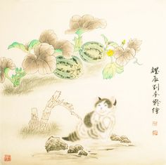 Cats - CNAG005403 Chinese Painting, Hand Painted, Paintings, The Originals, Cats, Artist, Style, Swag, Gatos