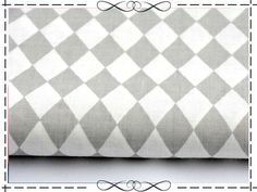 Stoff grafische Muster - Baumwolle, kleine Rauten, grau-weiß - ein Designerstück von imagine-shop bei DaWanda