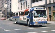 NEW YORK BUS SERVICE GM SUBURBAN FISHBOWL