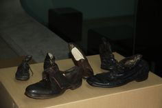 Shoes on loan from Auschwitz State Museum