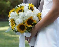 sunflower white rose
