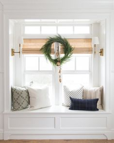 Kitchen Living Rooms Remodeling Faux Native Cedar Wreath - Welcome your guests with a wintertime staple. The Faux Native Cedar Wreath is festive, but beautiful all winter long with its long and lush branches. Each McGee Home Decor Kitchen, Home Decor Bedroom, Bedroom Nook, Kitchen Paint, Kitchen Living, Kitchen Ideas, Master Bedroom, Farmhouse Side Table, White Farmhouse