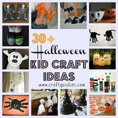 30+ Halloween Kid Craft Ideas. Lots of pins I've seen but I adore the bracelets.