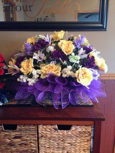 Mom's Headstone Flowers - Summer 2014