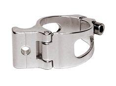 CNC-Bike Onlineshop - CNC X-light Umwerferschelle Aluminium 31.8 mm silber