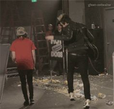 "Vic Fuentes, Jack Barakat (Filming ""Love Like War"")"
