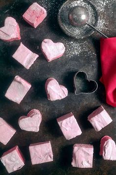 Homemade Raspberry Hibiscus Marshmallows made with ingredients you can find at any grocery store. Includes a corn syrup-free option!