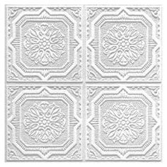 "Armstrong 40-Pack 12"" x 12"" Tin Look Wellington HomeStyle Ceiling Tile Panel  Item #: 80991 