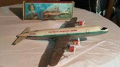 VINTAGE TOY JET AEROFLOT CCCP IL-18 , ИЛ-18 MODEL AIRCRAFT AIRPLANE DESK MODEL