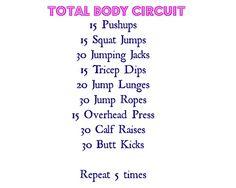 Total body circuit workout.