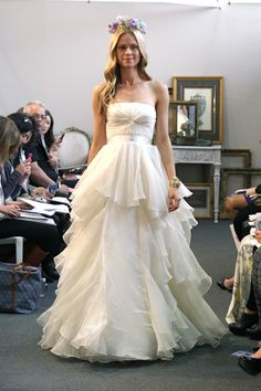 """I love the Fall 2013 Watters Brides """"Brooke"""" gown! Simply breathtaking as it moves."""