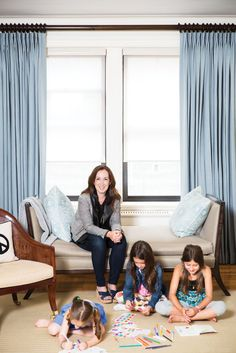 Beth Brenner of domino magazine uses smith & noble curtains in her manhattan home.
