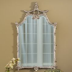 """Features:  -Hand cast in """"Pecan Shell"""" resin.  -Hand finished.  -Made in the USA.  Shape: -Arch/Crowned top.  Style (Old): -Traditional.  Country of Manufacture: -United States.  Beveled Glass: -Yes."""