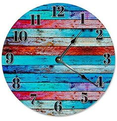 """Home Is Where The Anchor Drops Clock Large 10.5/"""" Wall Clock 2192"""