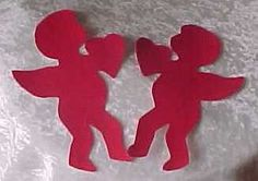 Valentine Red Cupid Heart Appliques Template by jammasgirls, $2.00