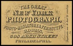 New York Photograph Rooms | Sheaff : ephemera