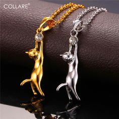 Diamonds Are a Cats Best Friend Gemstone Bejewel Pendant Necklace  Price: 8.49 & FREE Shipping  #pets #dog #doglovergifts Cat Necklace, Gold Pendant Necklace, Necklace Price, Pet Gifts, Dog Lover Gifts, Cat Jewelry, Jewelry Necklaces, Silver Color, Diamonds