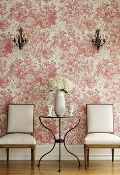"""Image result for Florissante 13.5' x 27"""" Wallpaper Roll By Schumacher"""