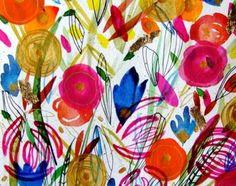 Flowers Painting Flowers Garden - Home Decor Art - Botanical Art