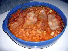 Southern Baked Beans - Our friends, back in the '70s, used to make these all the time. Only, she didn't drain the pork'n beans.