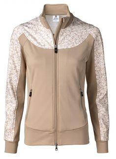 Daily Sports Ladies Nova Full Zip Golf Jackets - NATURAL ELEGANCE (Straw)