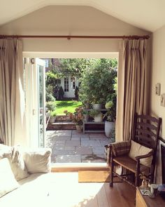 bifold doors cottage garden victorian extension Roses and Rolltops