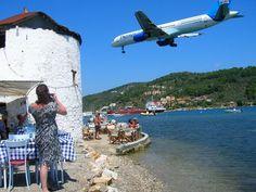 The most amazing landing! Skiathos airport