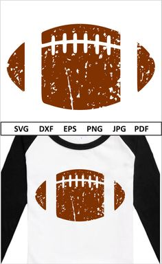 Distressed Football Svg files for Cricut Silhouette Cameo Iron On Vinyl Svg for Boys Distressed Football Cut file Football Shirt Svg Dxf Png - Vinyl Shirt - Ideas of Vinyl Shirt - Cricut Vinyl, Svg Files For Cricut, Vinyl Designs, Shirt Designs, Iron On Vinyl, Vinyl Shirts, Silhouette Cameo Projects, Silhouette Machine, Cricut Creations