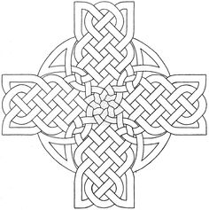 Celtic Mandala Coloring Pages | Celtic Cross Design 3 by baalthezzar