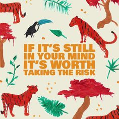 If it's still in your mind, it's worth taking the risk Quote; I love this collection of quotes. They inspire me to travel!