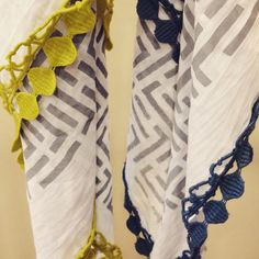 Organic, handprinted cotton muslin scarves...designed to age with you and your baby! X