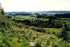 Sparbu, Norway.  View towards Kringla and the Borgen fjord