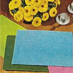 Beginners Simple Placemats, Free Crochet Pattern