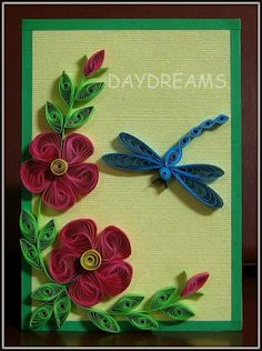 Flowers and Dragonfly by Suganthi  (112710)    [an example of Vortex Quilling inspired by Alli Bartkowski's blog entry]