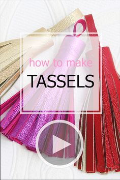 How to Make a Tassel – Stylish Leather Tassels for your Projects How to make a tassel from leather or vinyl (faux leather). Easy step by step instructions including video … Leather Bags Handmade, Handmade Bags, Leather Craft, Leather Bag Tutorial, Leather Bag Pattern, Wallet Sewing Pattern, Sewing Patterns, Diy Purse Patterns, Bracelet Patterns