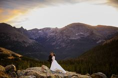 A wedding portrait in Rocky Mountain National Park