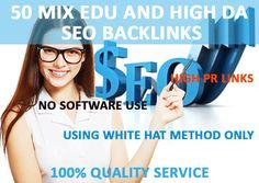 create 50 Mix,EDU,highda,backlinks for you by reginalperez