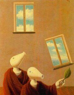 Natural encounters, 1945 by Rene Magritte, Sunlit Period. Royal Museums of Fine Arts of Belgium, Brussels, Belgium Rene Magritte, Conceptual Art, Surreal Art, Museum Of Fine Arts, Art Museum, Magritte Paintings, Art Ancien, Art Database, Fantastic Art